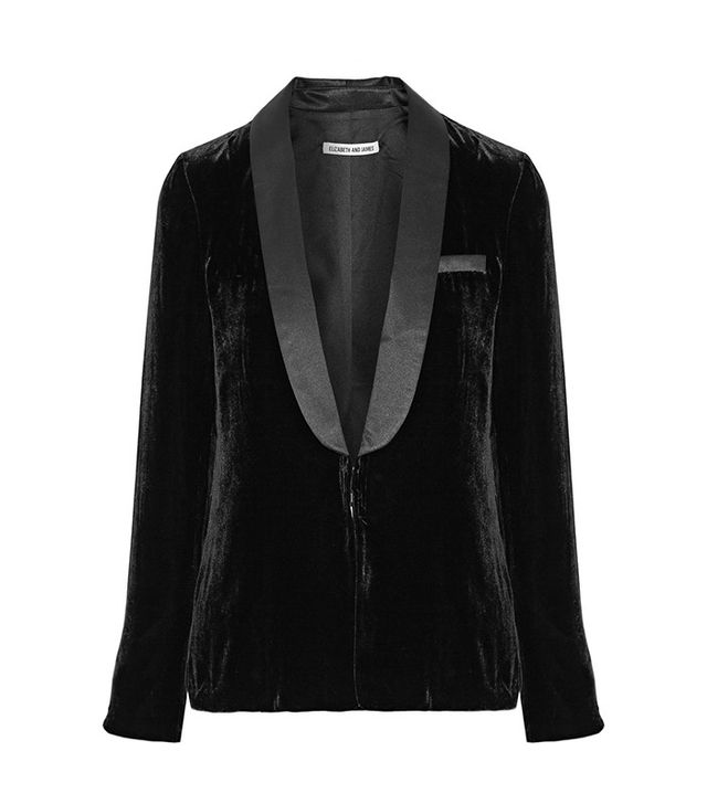 best velvet blazer—Elizabeth and James Ambrose Satin-Trimmed Velvet Blazer