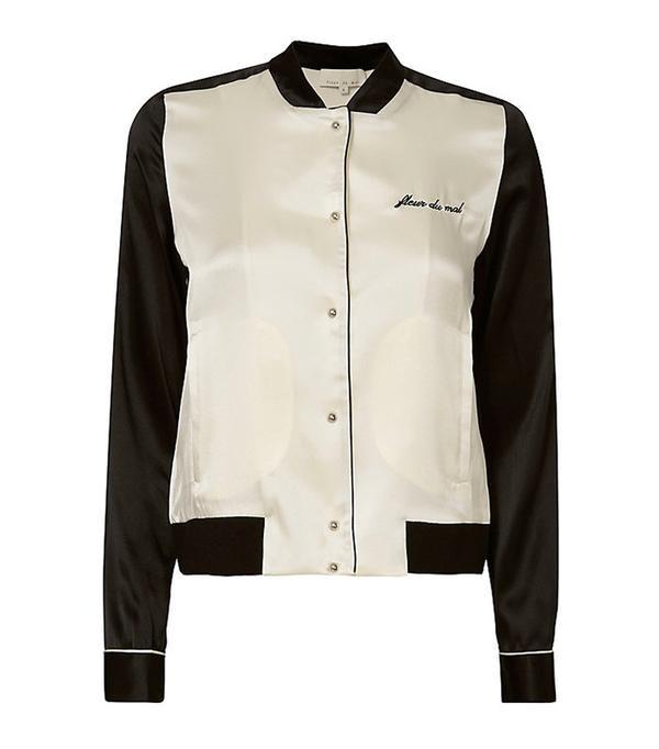 cute tshirt outfits - Fleur Du Mal PJ Bomber Jacket