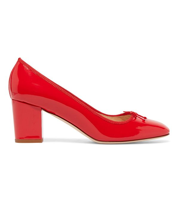 cute tshirt outfits - J. Crew Patent Leather Pumps