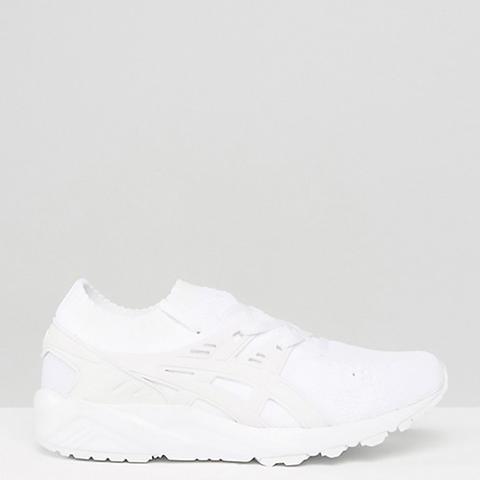 Knit Gel-Kayano Sneakers in White