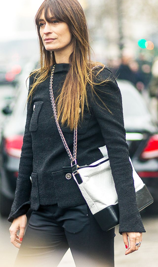 Take a styling tip from Caroline de Maigret, and wear one strap over the shoulder and the other strap across the body.
