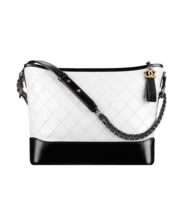 black chanel bags. it bag - chanel gabrielle large hobo black white bags