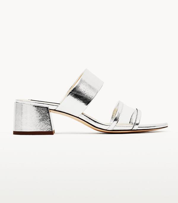 Best silver shoes: Zara sandals