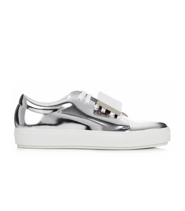 Best silver shoes: Acne trainers