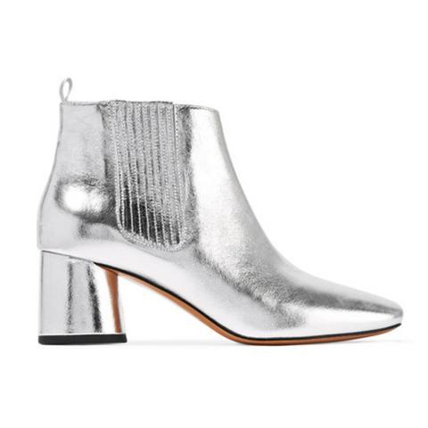 Rocket Metallic Leather Chelsea Boots
