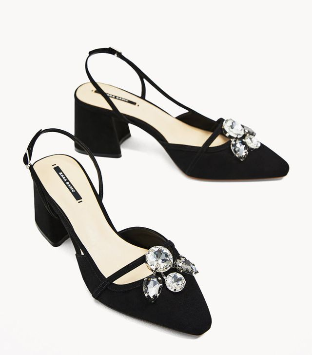 Best slingbacks: Zara gem shoes