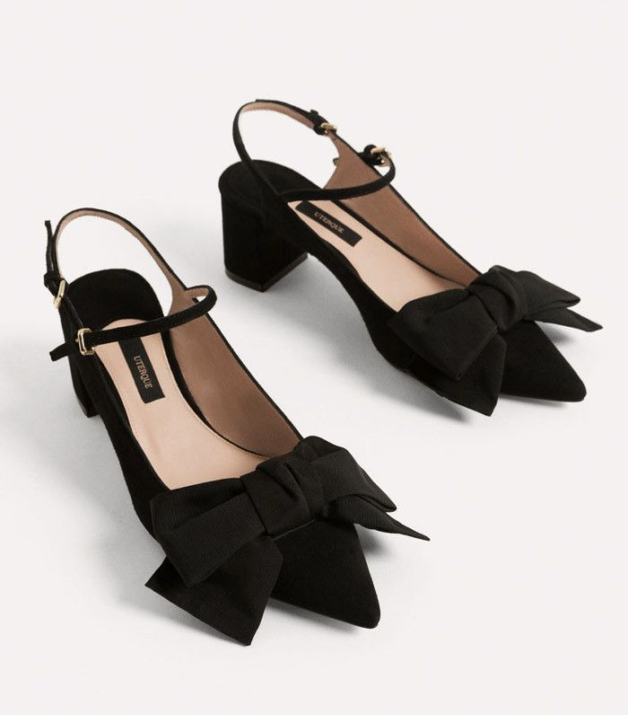 Best slingbacks: Uterque with bow