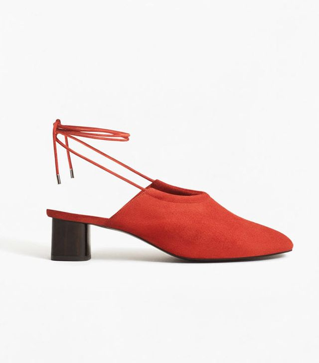 Best slingbacks: Mango red shoes