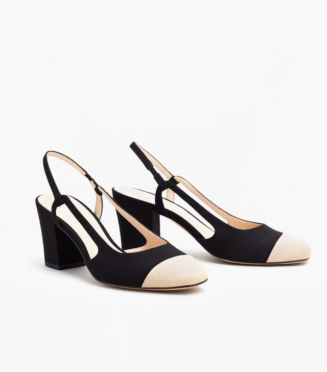Best slingbacks: Mango two-tone coloured shoes
