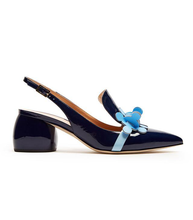 Best slingbacks: Anya Hindmarch navy