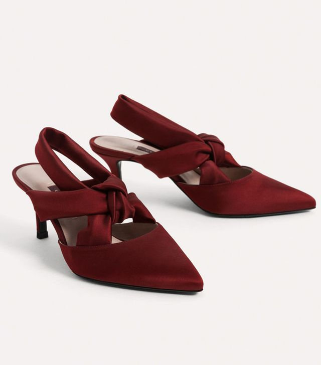 Best slingbacks: Uterque red shoes