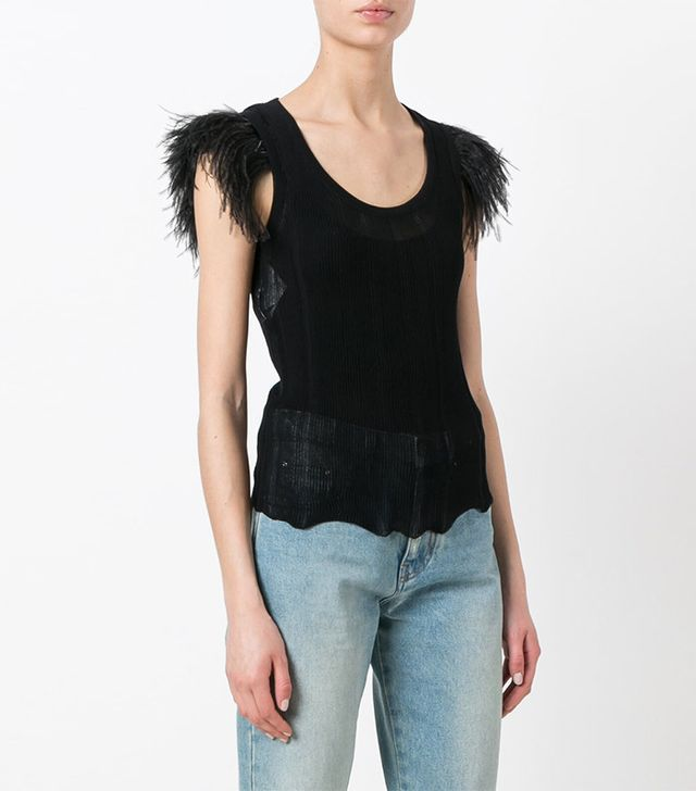 Philosophy Di Lorenzo Serafini Round Neck Sheer Blouse