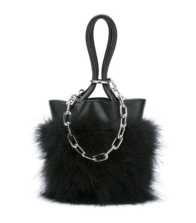 Alexander Wang Feather Trim Chain Tote