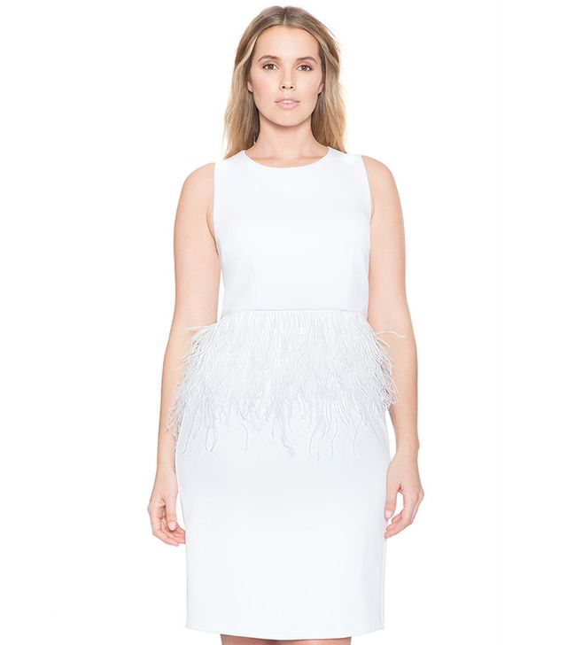 Eloquii Studio Feather Peplum Dress
