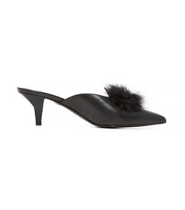 Trademark Suzanne Mules with Marabou Feathers