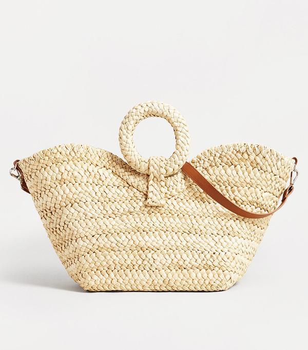 Power Dressing for Work: Mango Raffia Basket Bag
