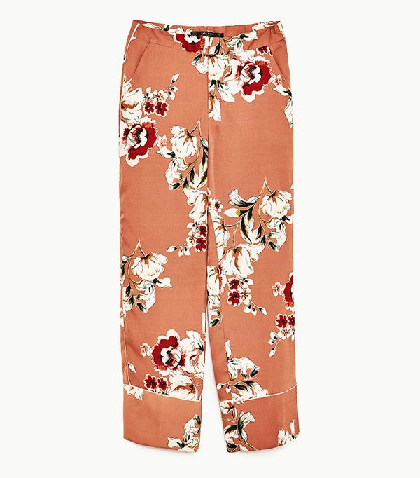 Power Dressing for Work: Zara Floral Printed Trousers
