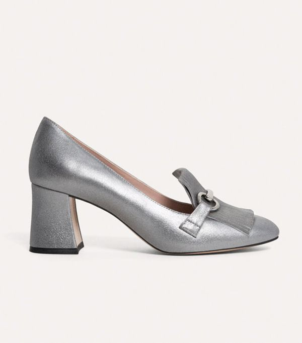 Power Dressing for Work: Uterque Mid Heel Shoes