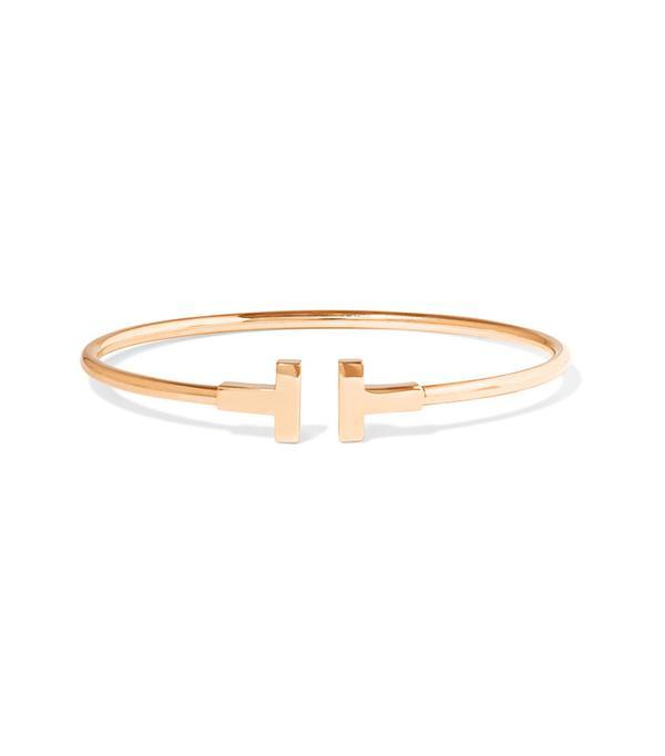 Power Dressing for Work: Tiffany & Co. T-Wire 18-Karat Rose Gold Bracelet