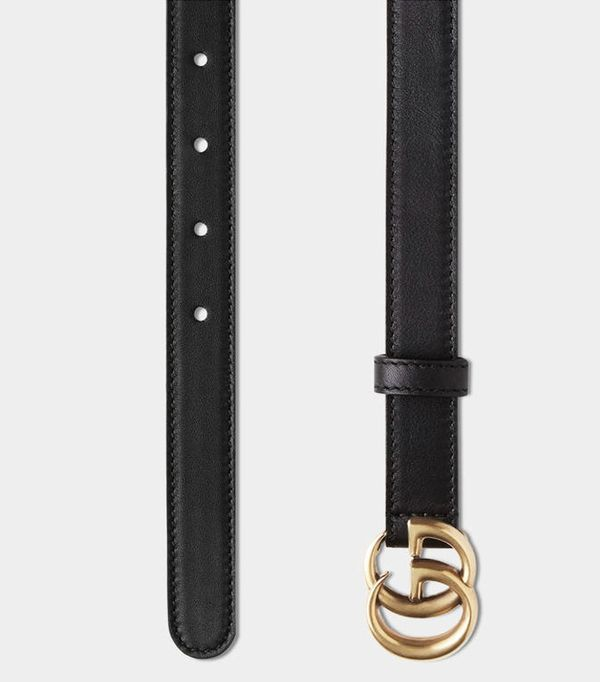 Power Dressing for Work: Gucci Leather Belt With Double G Buckle