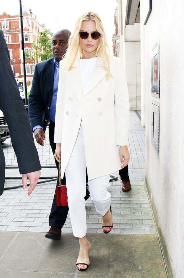 Sandal trends 2017: Margot Robbie in plastic sandals