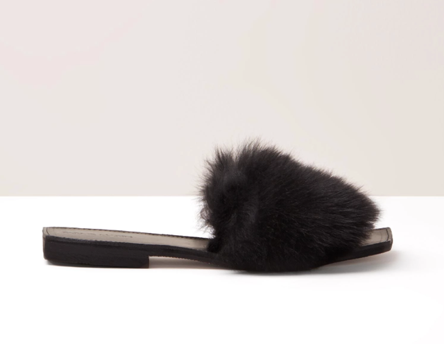 Parme Marin Furry Baby Slides