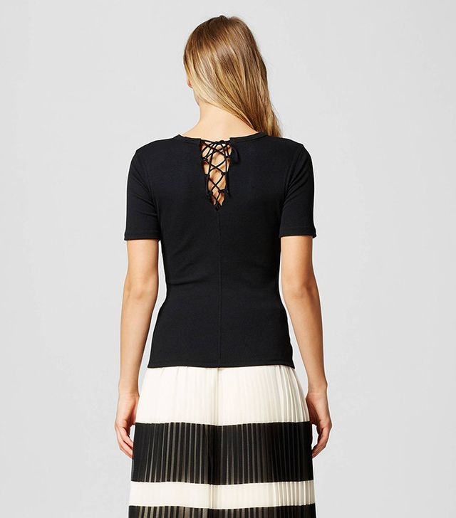 Who What Wear Collection Lace Back Tee