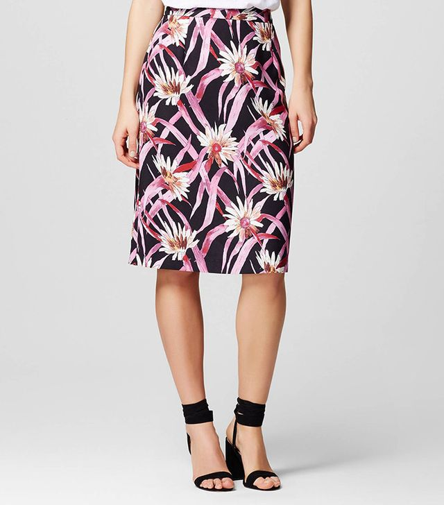 Who What Wear Collection Pleat Back Pencil Skirt