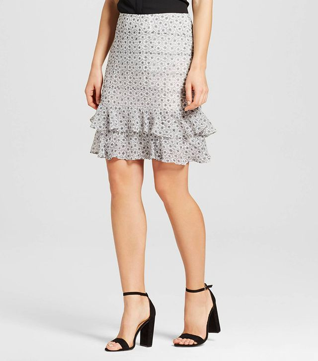 Who What Wear Collection Layered Ruffle Skirt