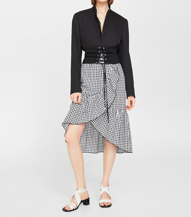 best gingham ruffle skirt