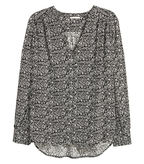 best plus-size summer top- H&M+ Patterned Blouse
