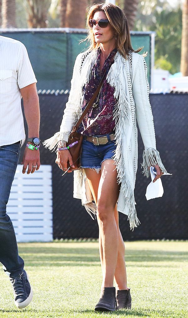 Cindy Crawford Coachella outfit