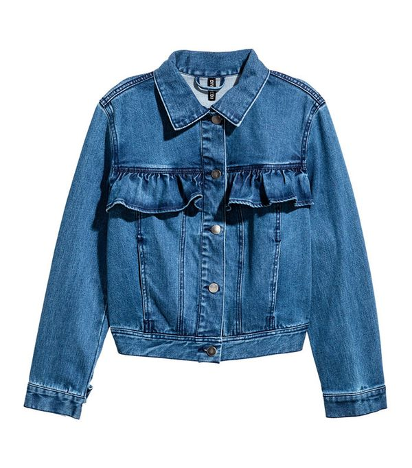 cutest denim jacket- H&M Ruffled Denim Jacket