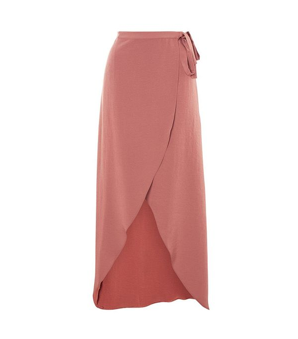 best pink skirt- Topshop Soft Wrap Maxi Skirt