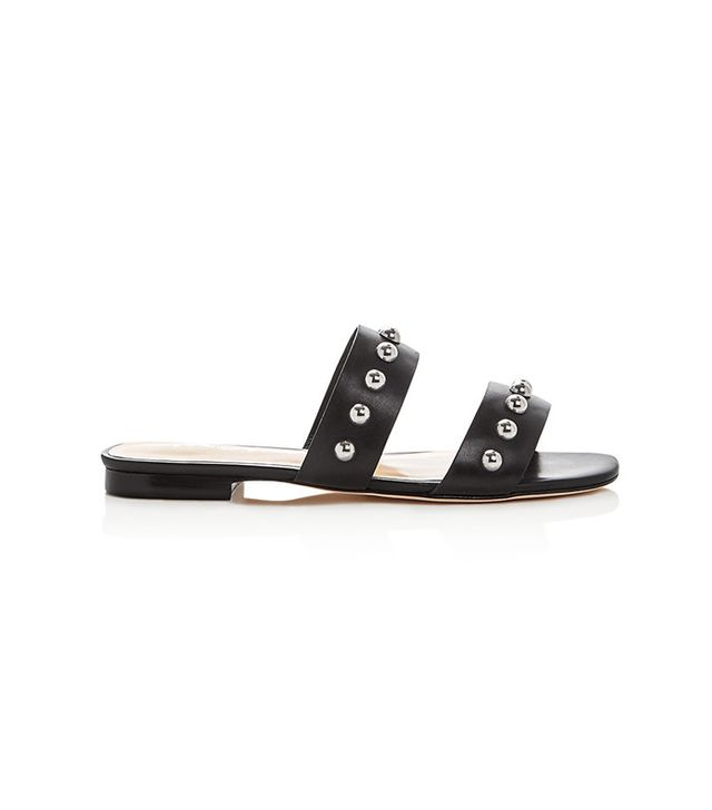 Isa Tapia Camelia Studded Double Strap Slide Sandals