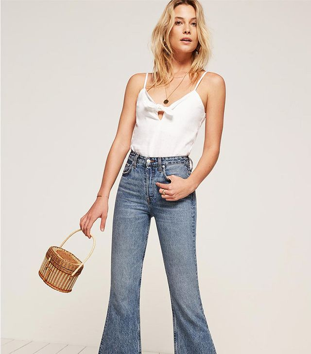 best white summer top- reformation Mango Top