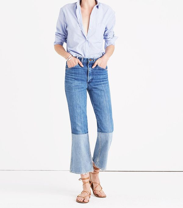 best two-tone jeans - Madewell B Sides Reworked Vintage Two-Tone Jeans