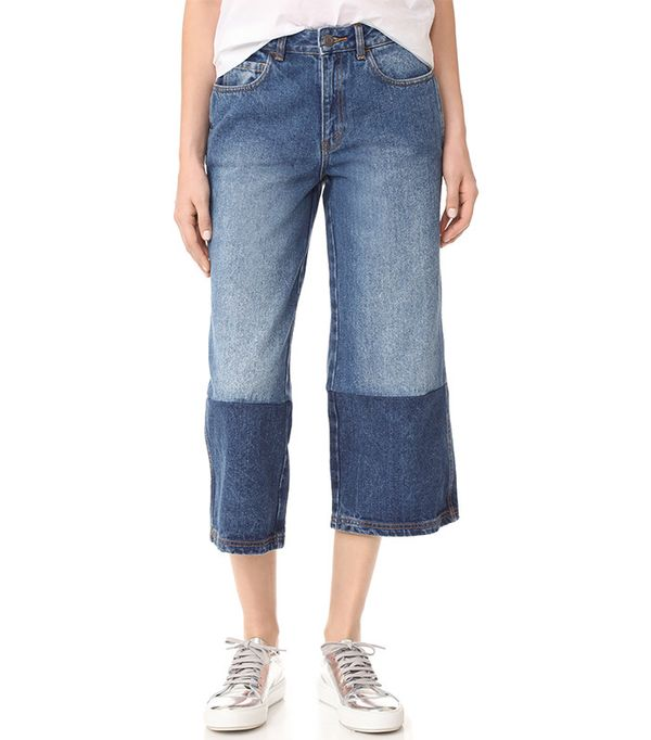 best two-tone jeans - Robert Rodriguez Two Tone Denim Gaucho Pants