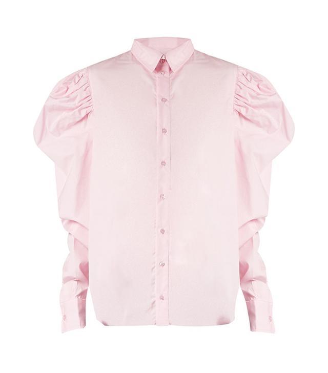 summer fashion trends - Marques'Almeida Puff-Sleeved Cotton-Poplin Shirt