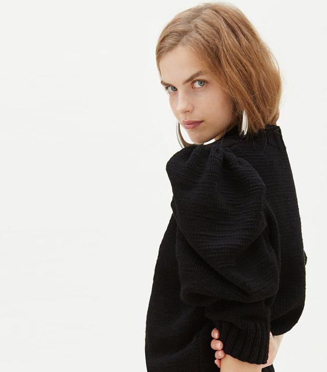 summer fashion trends - Marisa Witkin Hand-Knit Puff Sleeve Sweater