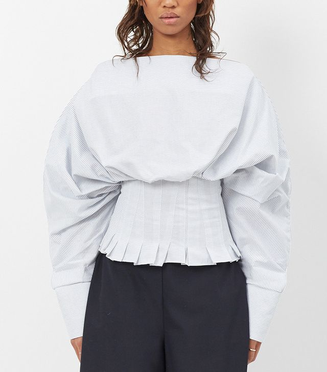 summer fashion trends - Jacquemus White and Blue Stripe Le Top Lune