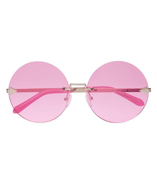 summer fashion trends - Karen Walker Disco Circus Pink Sunglasses