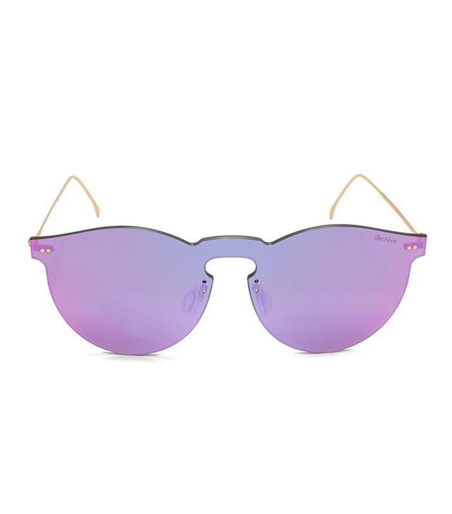 summer fashion trends - Illesteva Leonard Mask Mirrored Sunglasses