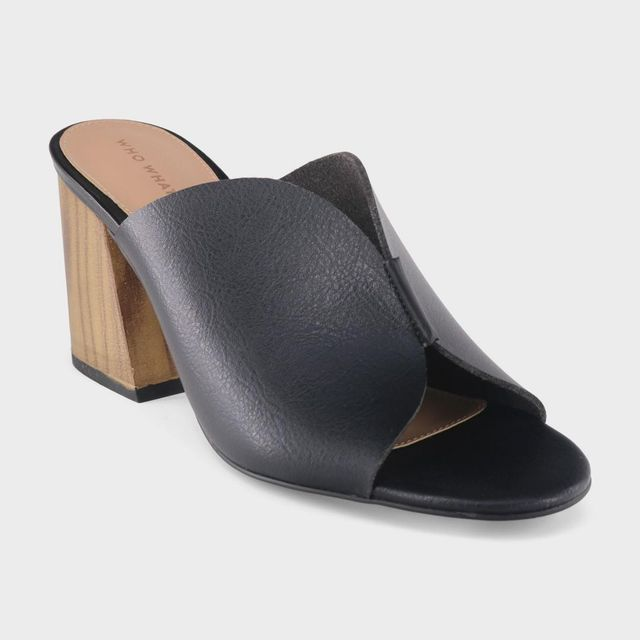 Allegra Smooth Faux Leather Heeled Mules