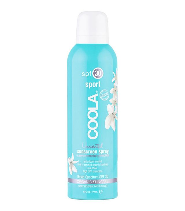coola sunscreen spray - makeup with spf