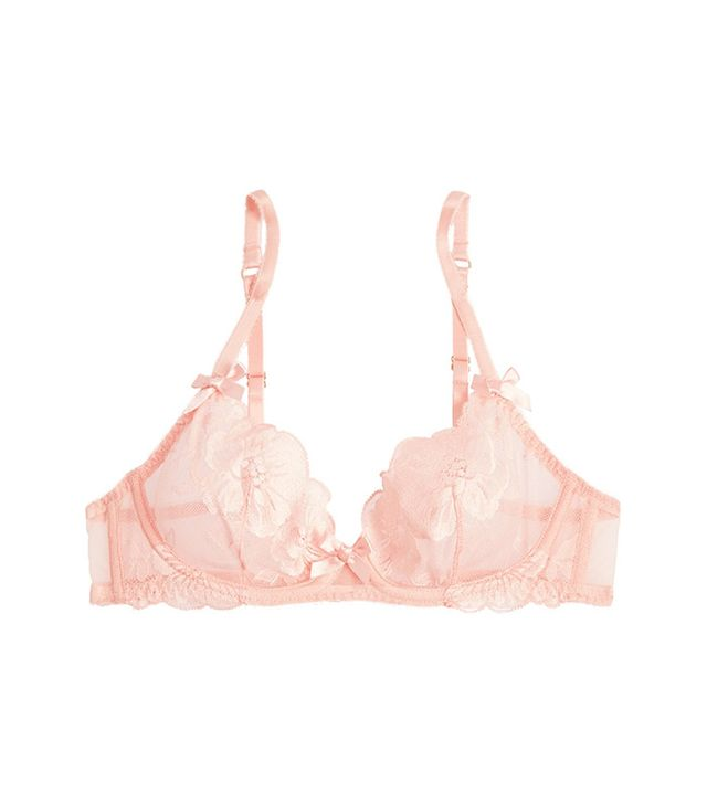 best lingerie for body types - L'Agent by Agent Provocateur Cateline Stretch-Lace and Tulle Bra
