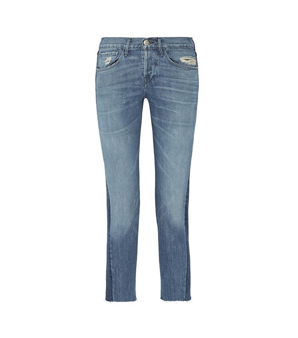 best two-tone jeans - 3x1 Von Cropped Mid-Rise Straight-Leg Jeans