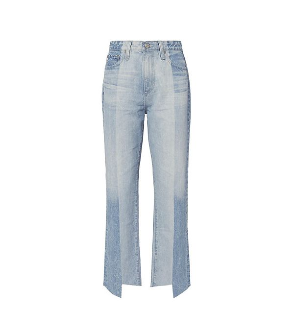 best two-tone jeans - AG Phoebe Two-Tone Step Hem Jeans