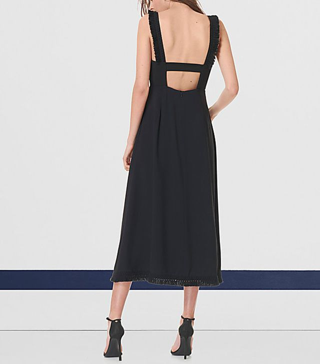 best black midi dress