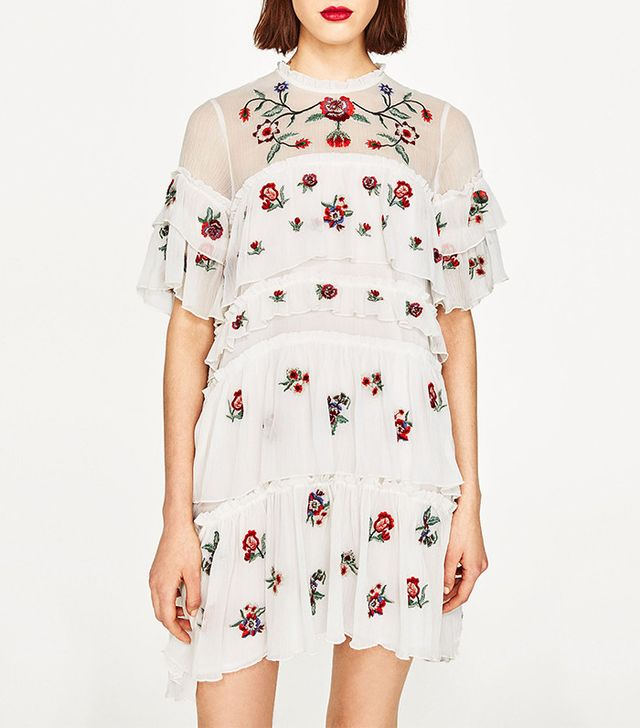 best embroidered mini dress